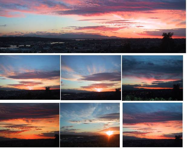 collage of Sunsets