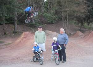 Family BMXing at Greenlake