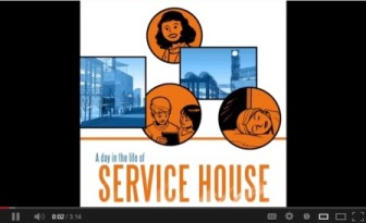 Opening frame of video - A Day in the Life of Service House