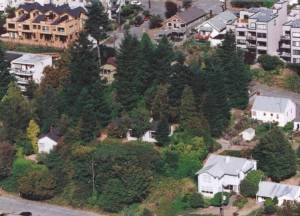 Aerial view of the houses at the time of purchase