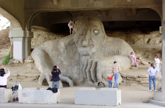 Troll with visitors